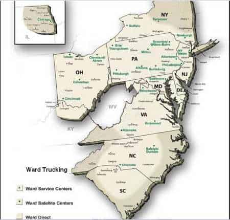 ward-trucking-delivery-routes