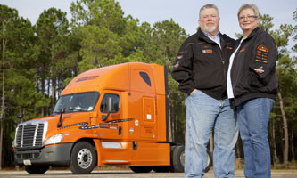 trucking team driving