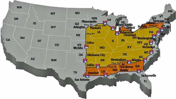 TMC Trucking Map