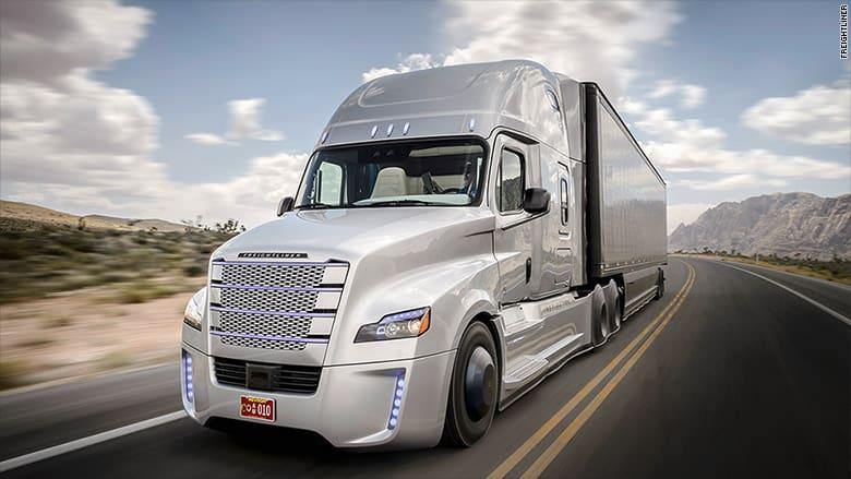Mercedes Self Driving Trucks