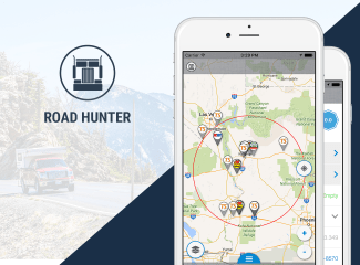 Road Hunter truck stop locator app