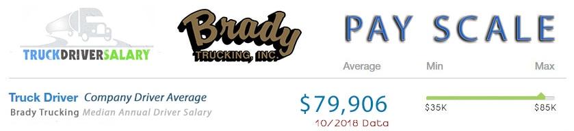 Brady Trucking Pay Info