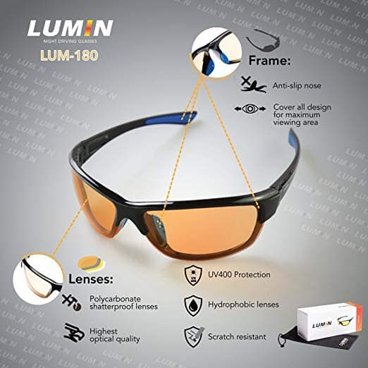 Lumin driving glasses