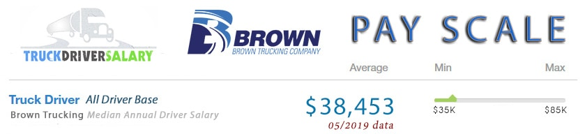 brown trucking company pay